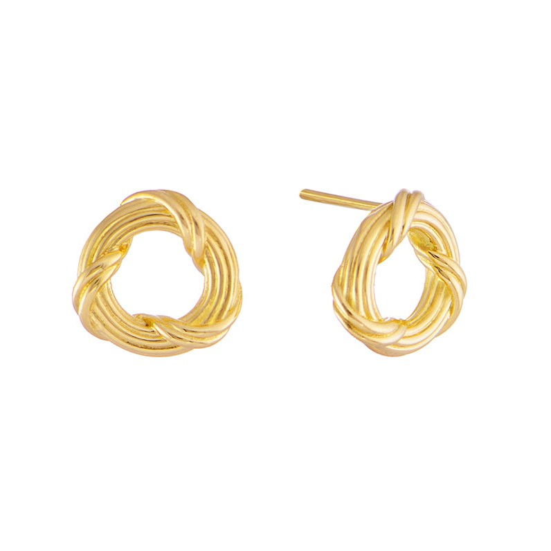 in stud reed small circle round heritage earrings classic petite ribbon gold yellow signature and earring