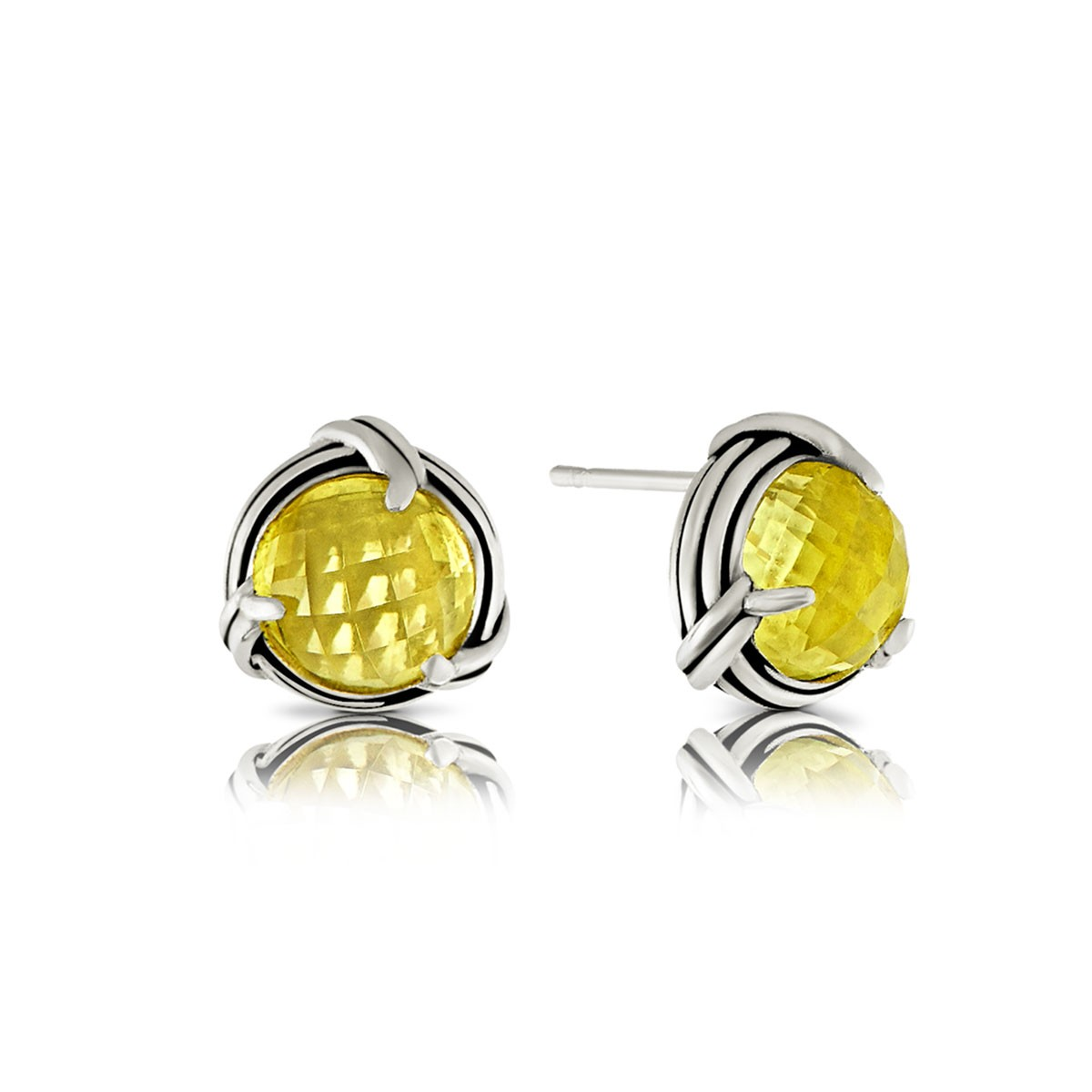 earring from lamoon gold earrings citrine sterling stud jewelry bee silver item natural plated yellow in