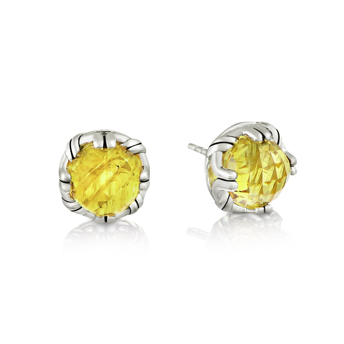 from jewellery oval image earrings stud gold citrine new yellow