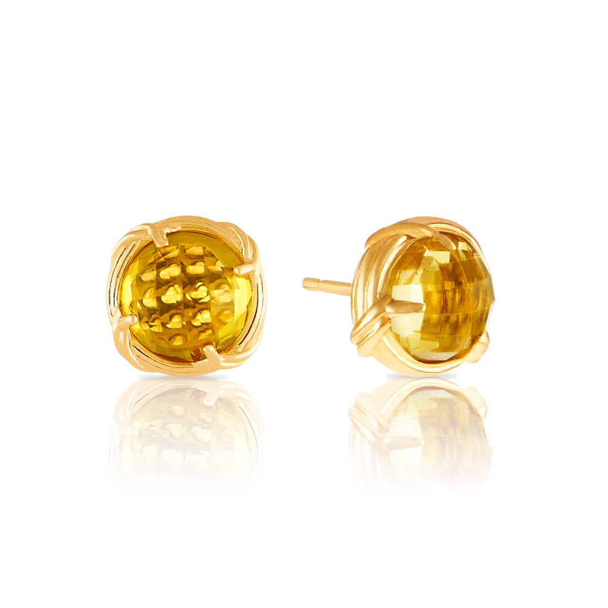 stud yellow gold citrine earrings jewellery new oval image from