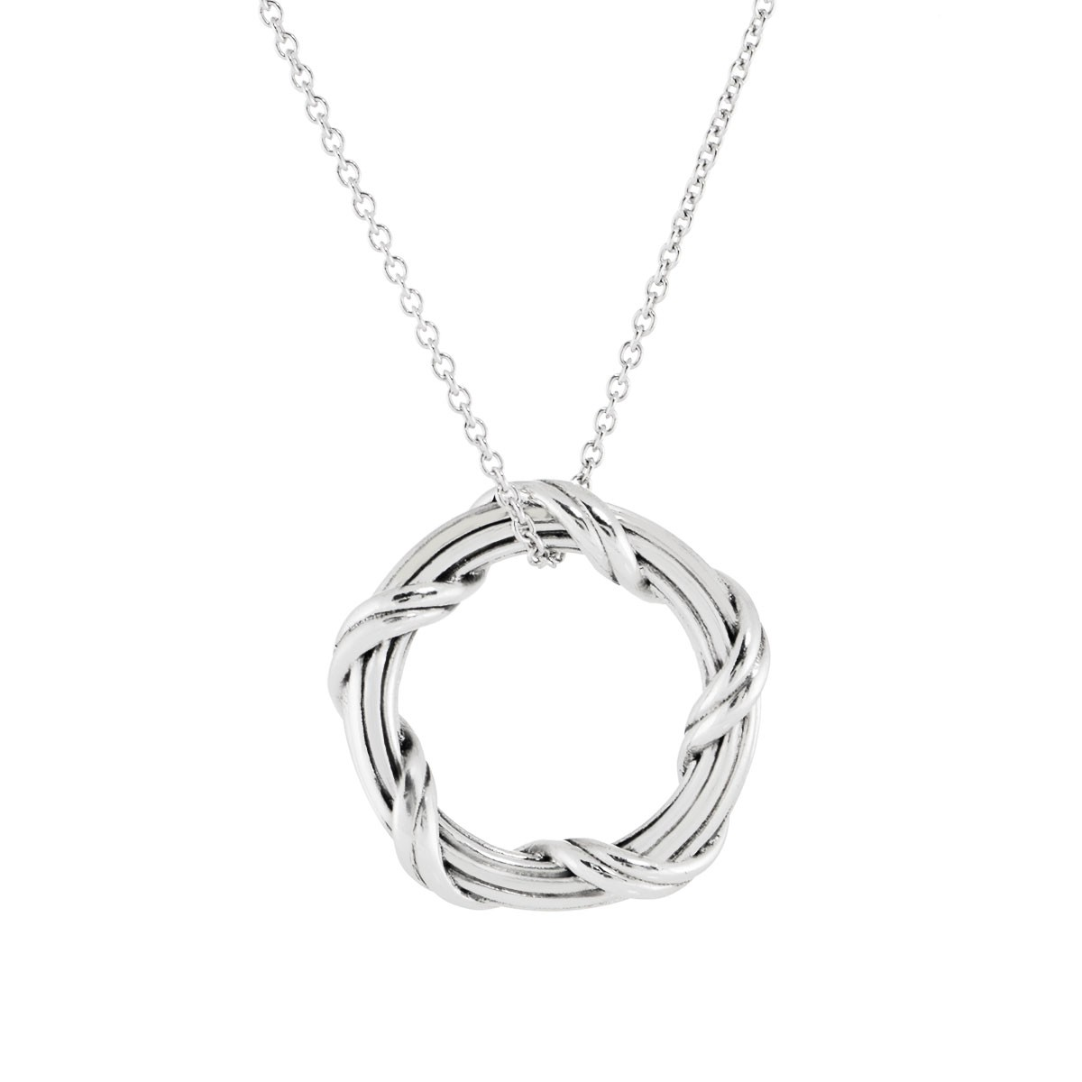 Ribbon reed signature classic circle pendant necklace in sterling ribbon reed signature classic circle pendant necklace in sterling silver 75 aloadofball Images