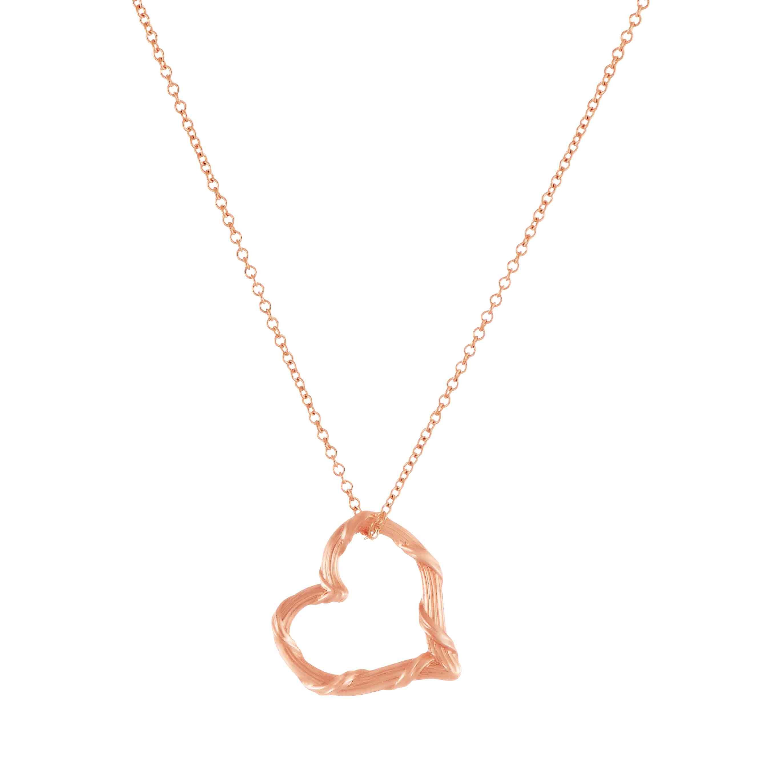 18k gold pendant necklace for men women rose yellow gold heritage mini floating heart necklace in 18k rose gold 16 chain aloadofball Images