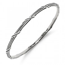Signature Classic Stack Oval Bangle in sterling silver