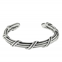 Signature Classic Oval Cuff in sterling silver