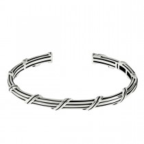 Signature Classic Oval Cuff in sterling silver 5 mm