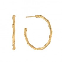 Heritage Hoop Earrings in 18K yellow gold 1""