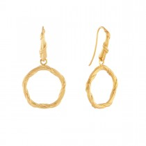 Heritage Circle Earrings in 18K yellow gold