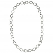 Signature Classic Oval Link Necklace in sterling silver 36""