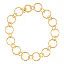 Heritage Mixed Link Necklace in 18K yellow gold