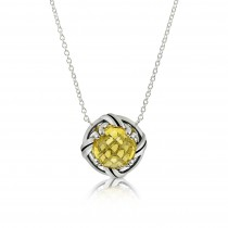 Fantasies Citrine Necklace in sterling silver
