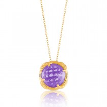 Fantasies Amethyst Necklace in 18K yellow gold
