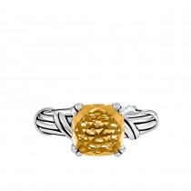 Fantasies Citrine Cocktail Ring in sterling silver 10mm
