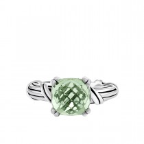 Fantasies Prasiolite Cocktail Ring in sterling silver 10mm
