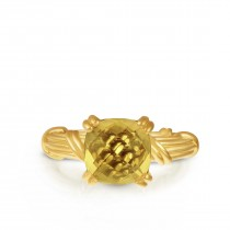 Fantasies Citrine Cocktail  Ring in 18K yellow gold
