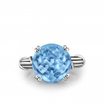 Fantasies Blue Topaz Cocktail Ring in sterling silver