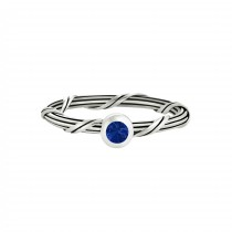 Signature Romance Blue Sapphire Ring in sterling silver