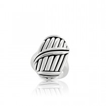 Signature Classic Shield Statement Ring in sterling silver