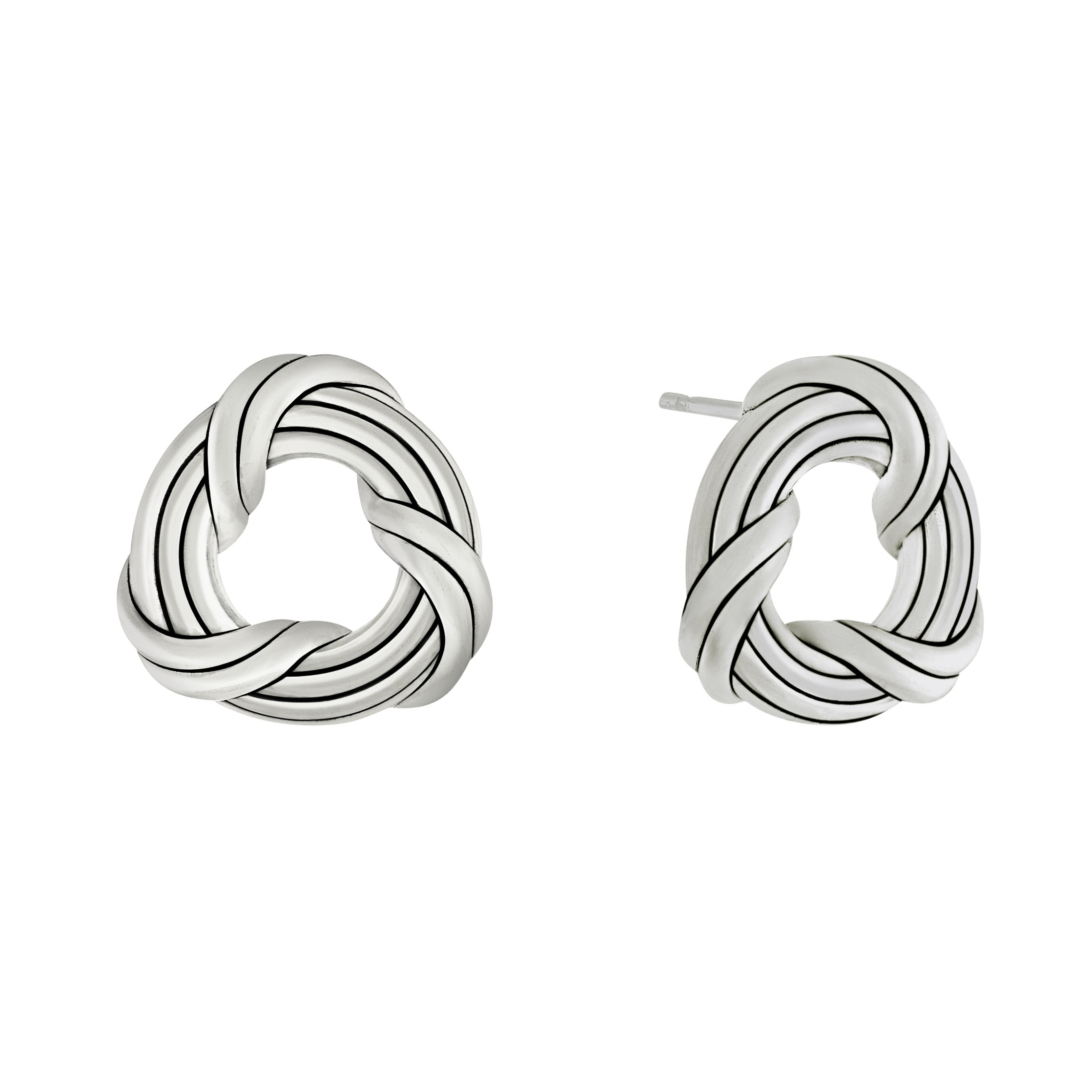 Signature Classic Stud Earrings in sterling silver