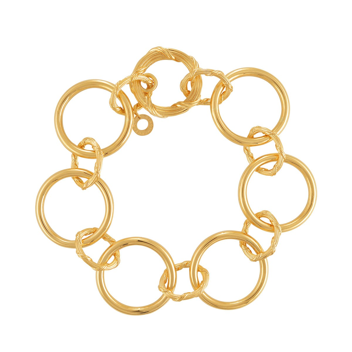 Heritage Mixed Link Bracelet in 18K yellow gold
