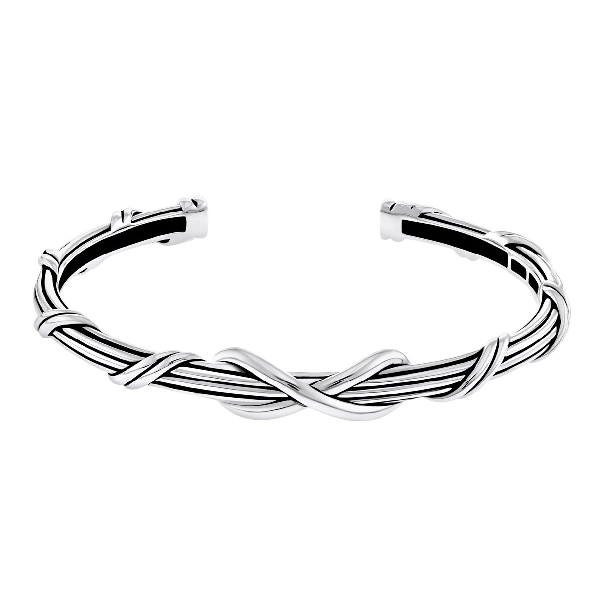 Signature Classic Infinity Cuff in sterling silver