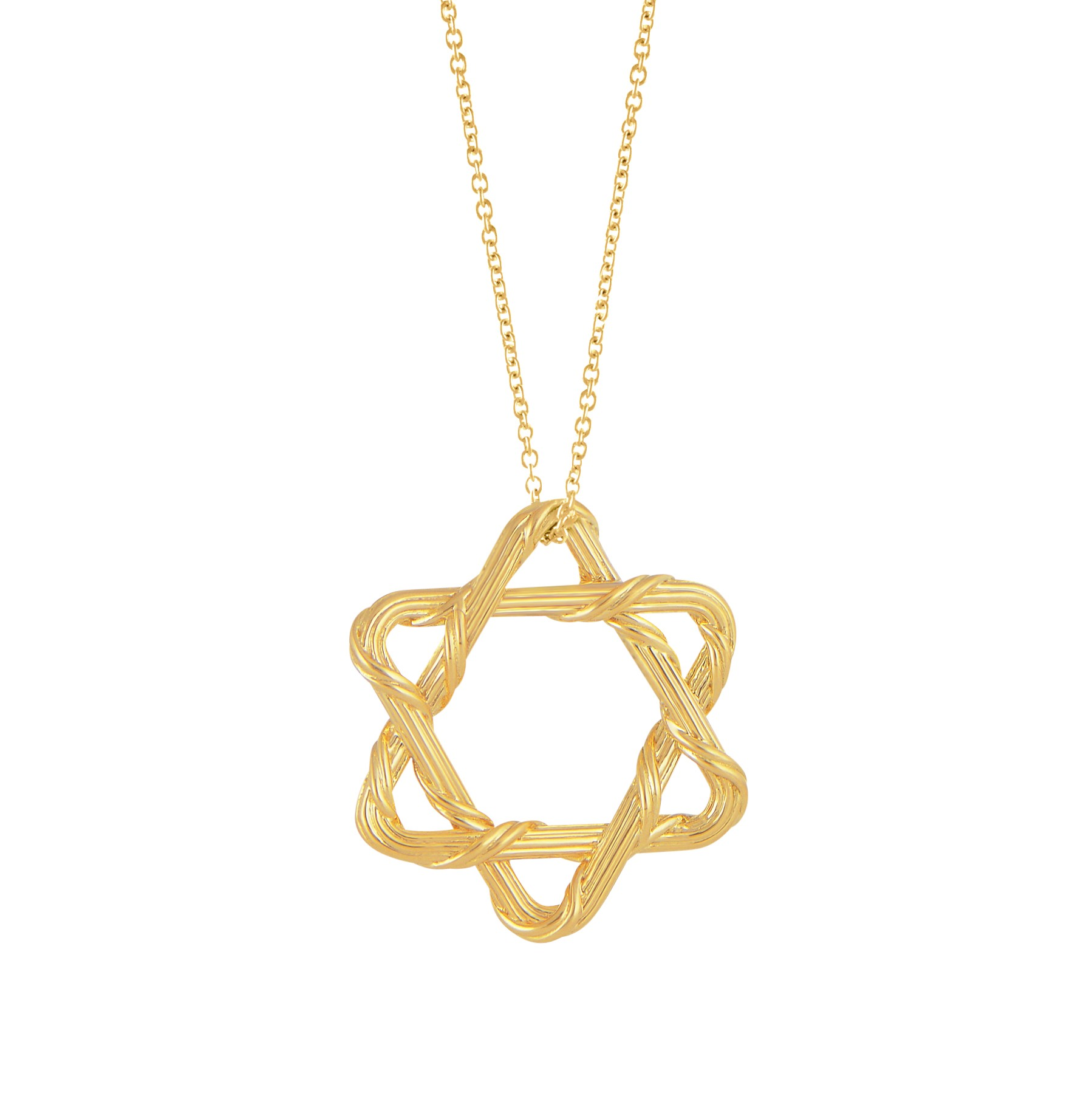 Heritage Star of David Necklace in 18K yellow gold