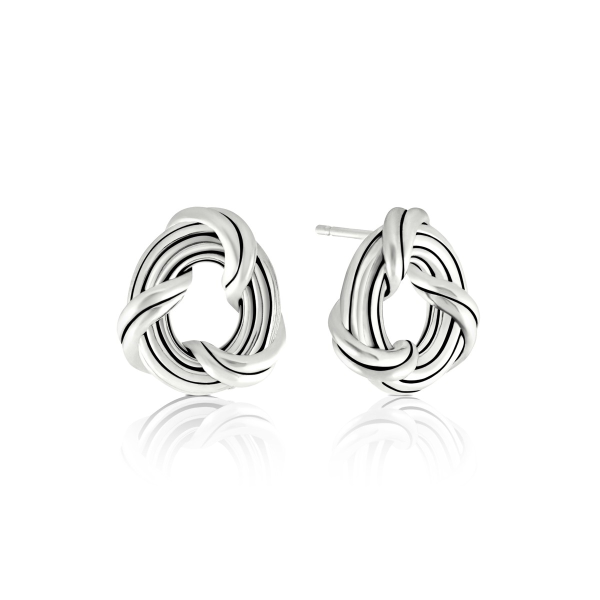 Signature Classic Oval Stud Earrings in sterling silver