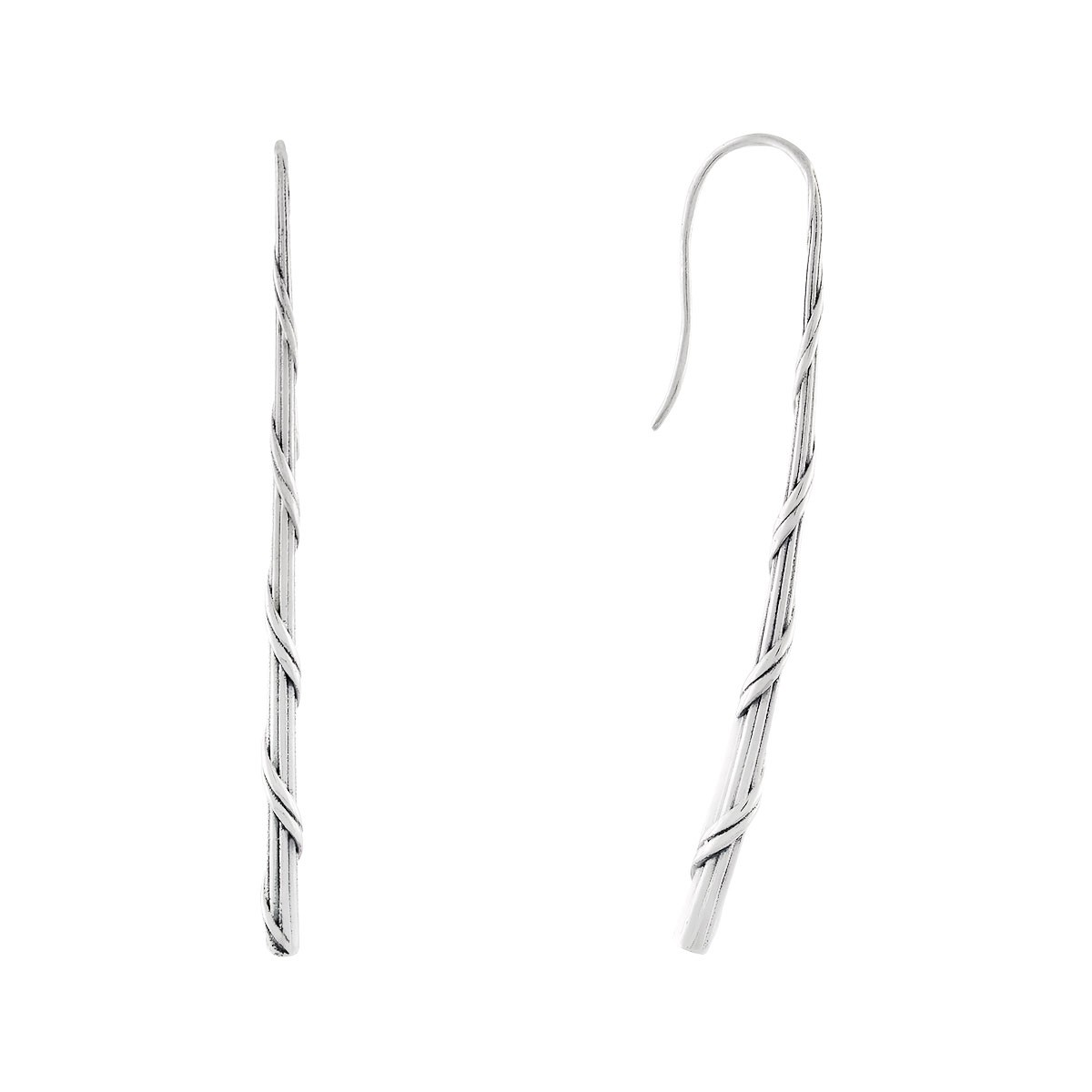 Signature Romance Taper Stick Earrings in Sterling Silver