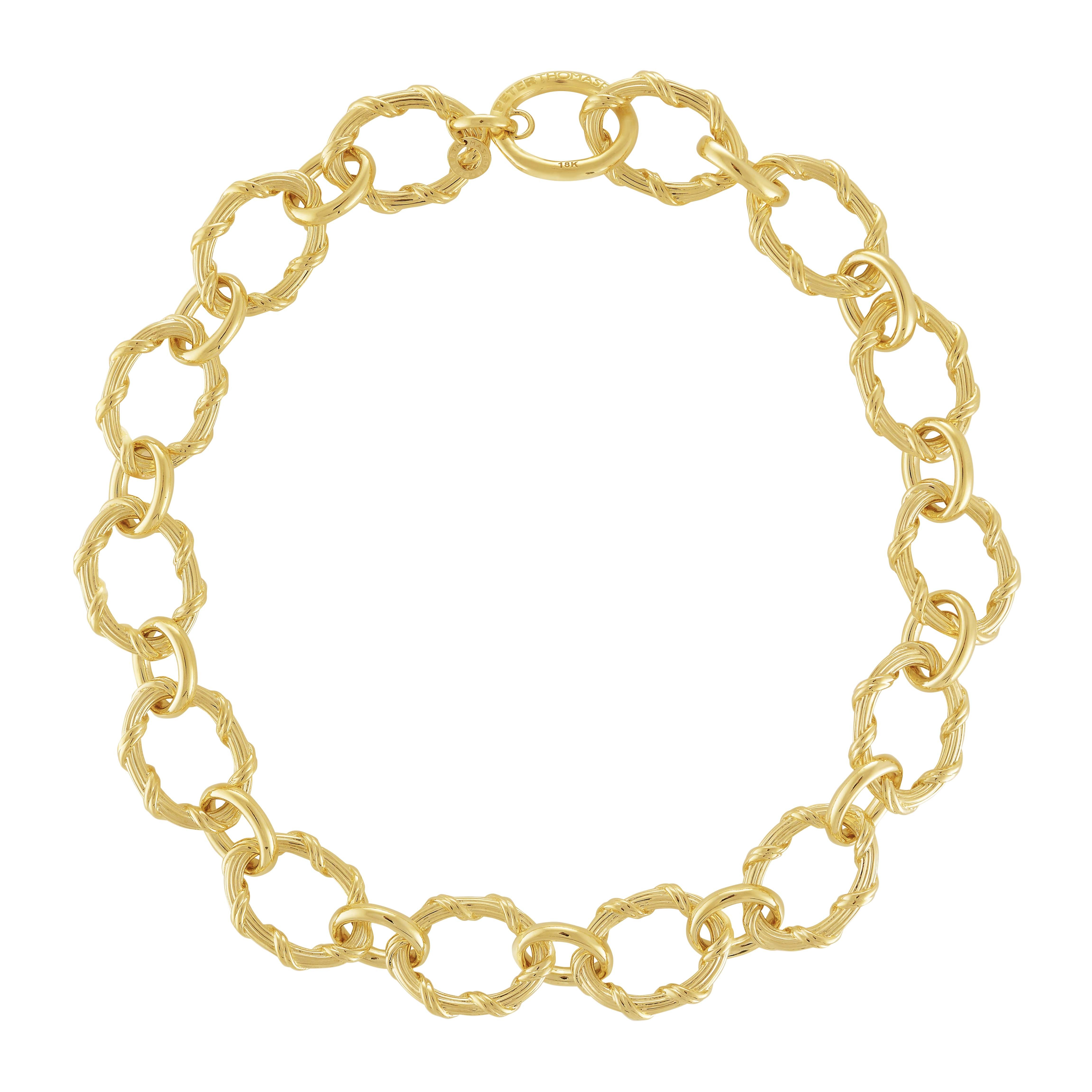 Heritage Oval Link Necklace in 18K yellow gold