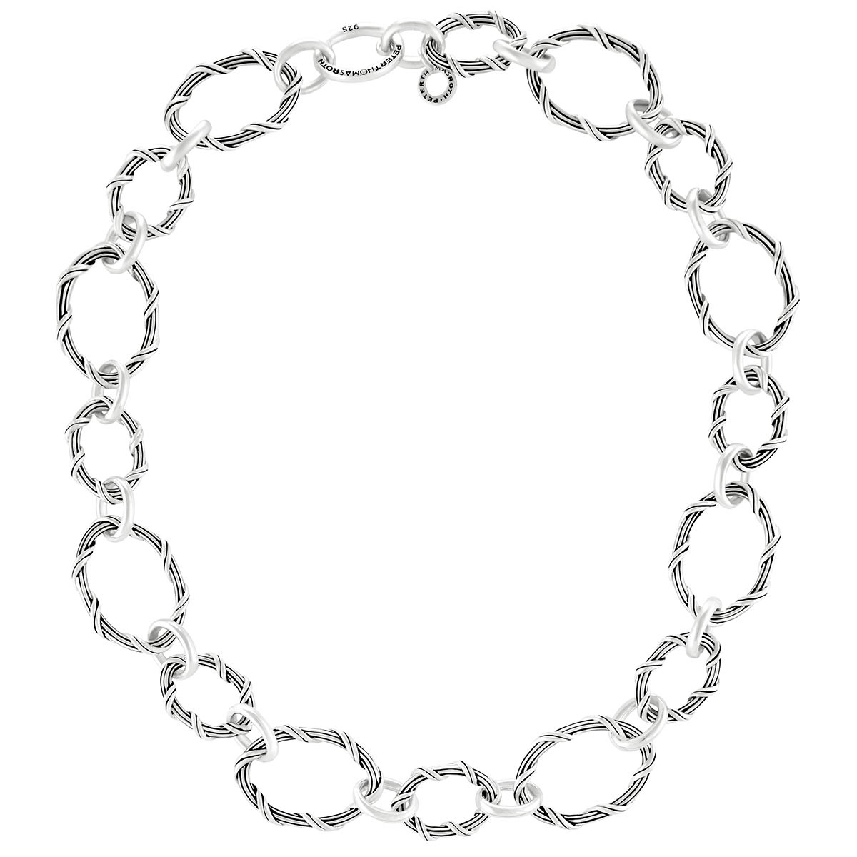 """Signature Classic Oval Link Necklace in sterling silver 24"""""""