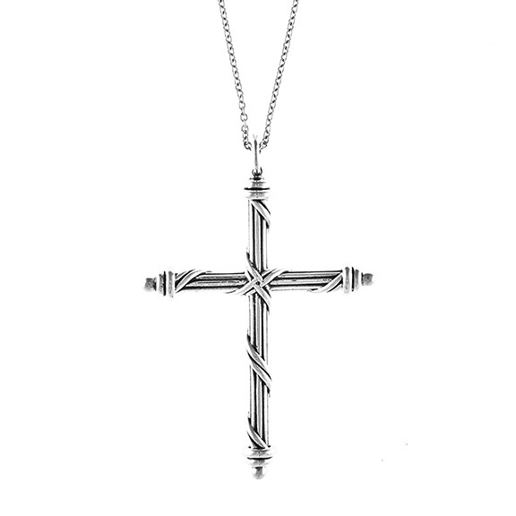 Signature Classic Cross Necklace in sterling silver