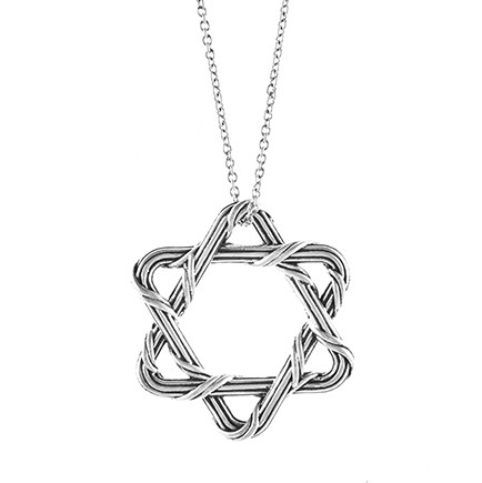 Signature Classic Star of David Necklace in sterling silver