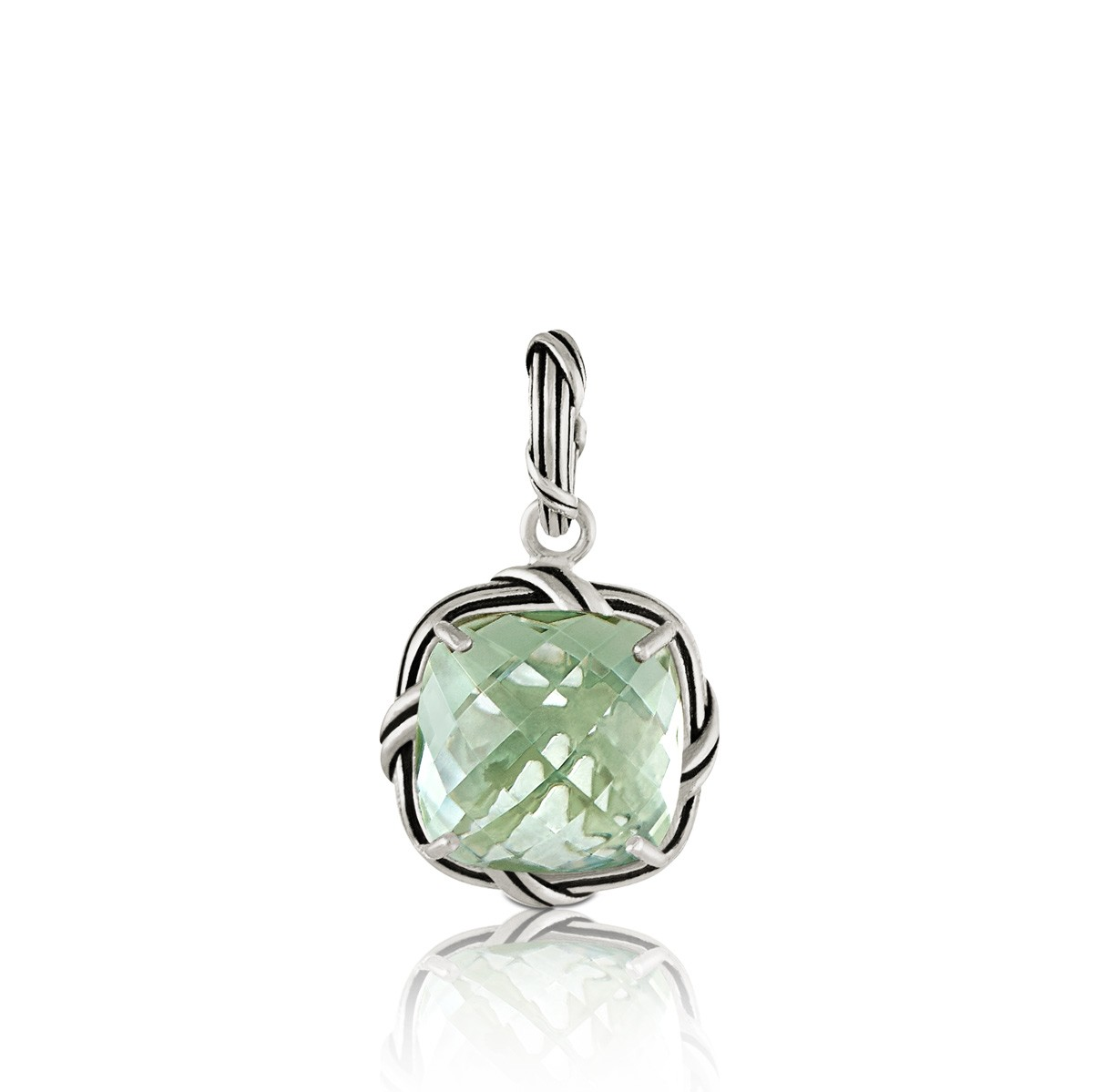 Fantasies Prasiolite Enhancer in sterling silver