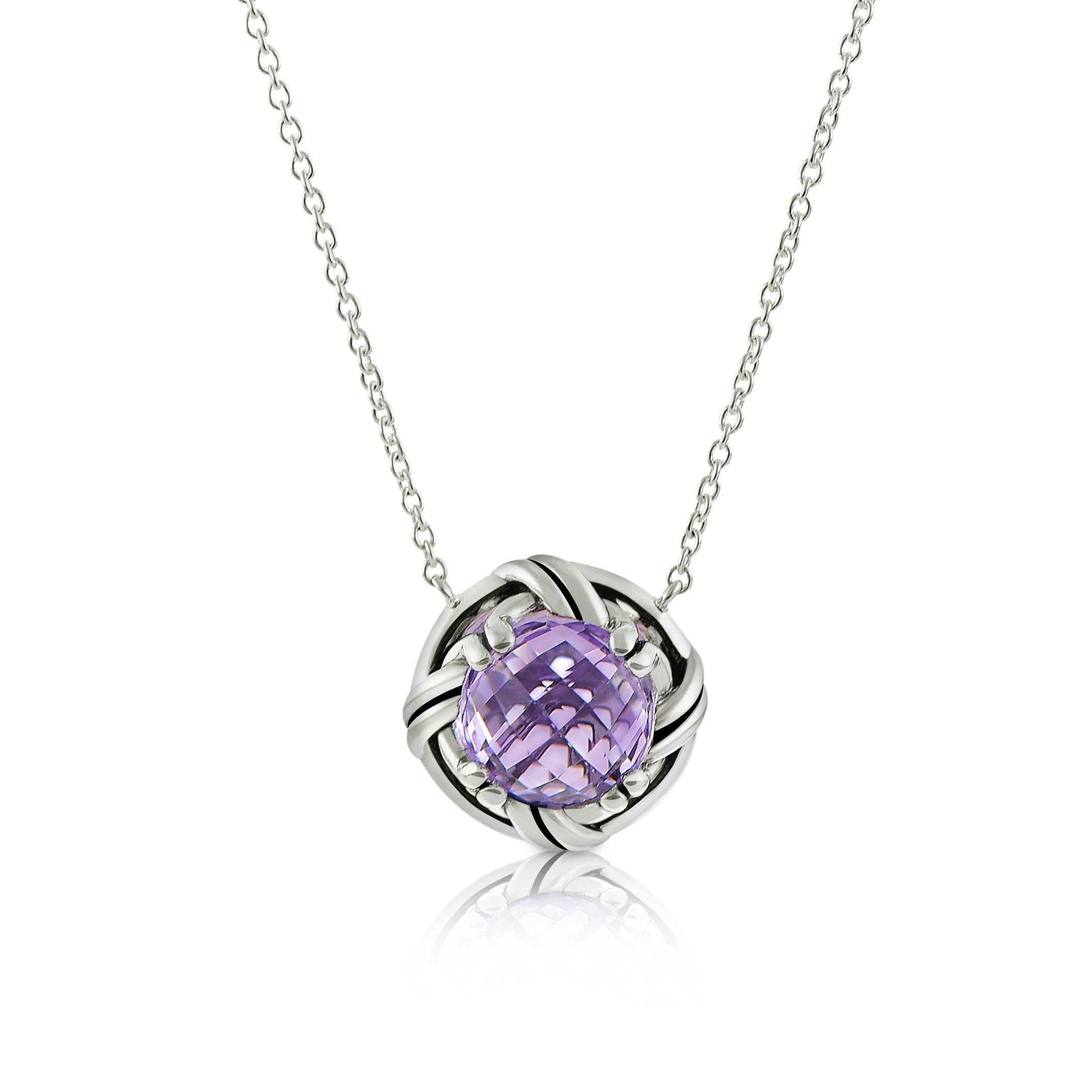 Fantasies Lavender Amethyst Necklace in sterling silver