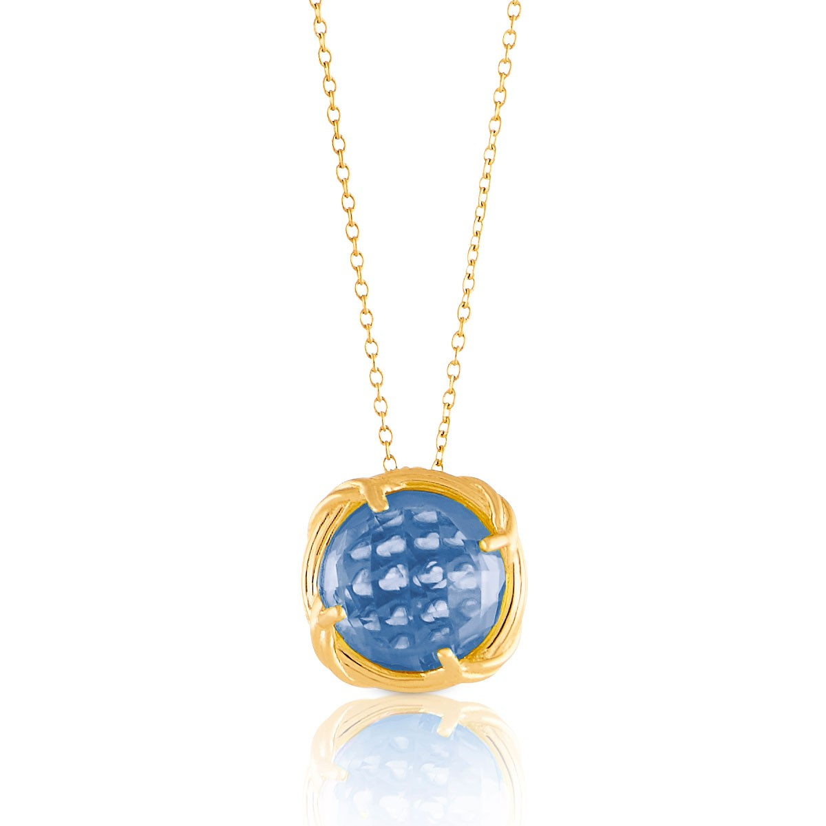 Fantasies London Blue Topaz Necklace in 18K yellow gold