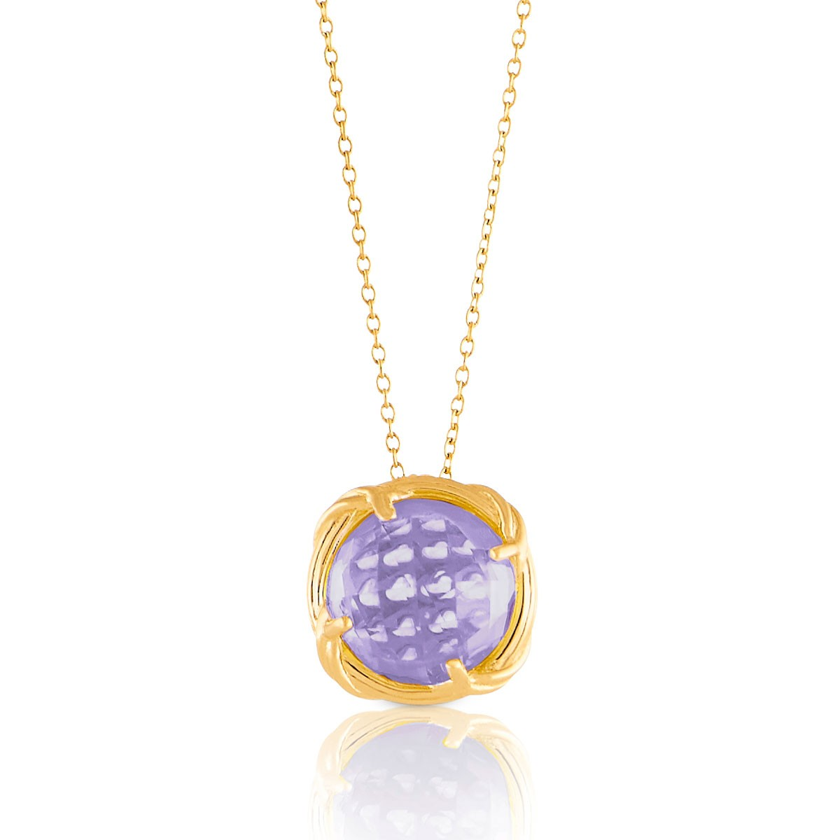 Fantasies Lavender Amethyst Necklace in 18K yellow gold