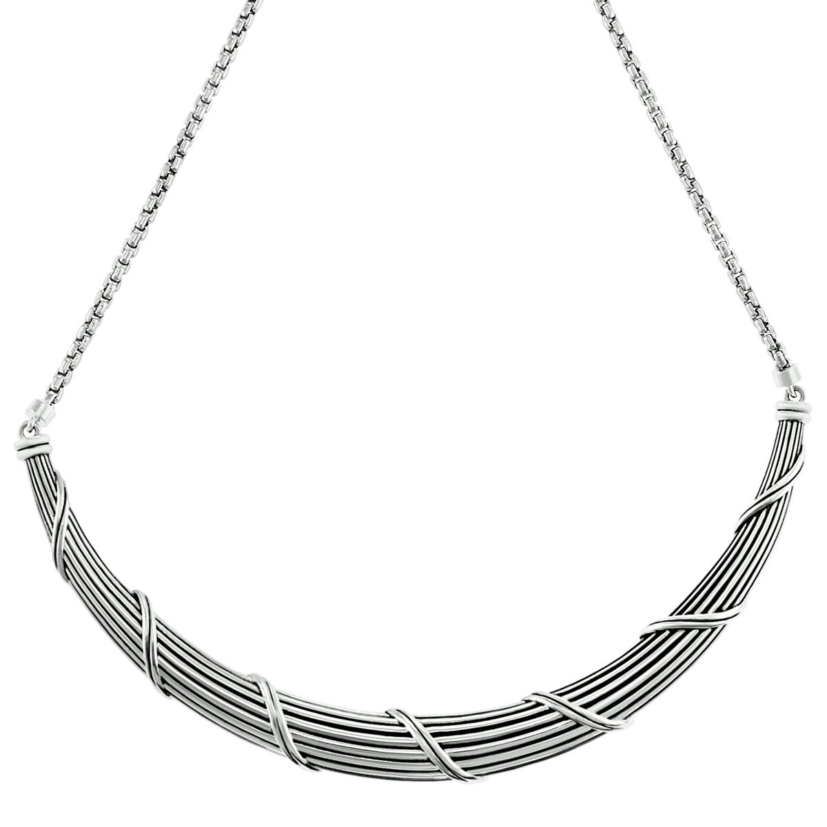 Signature Classic Collar Necklace in sterling silver