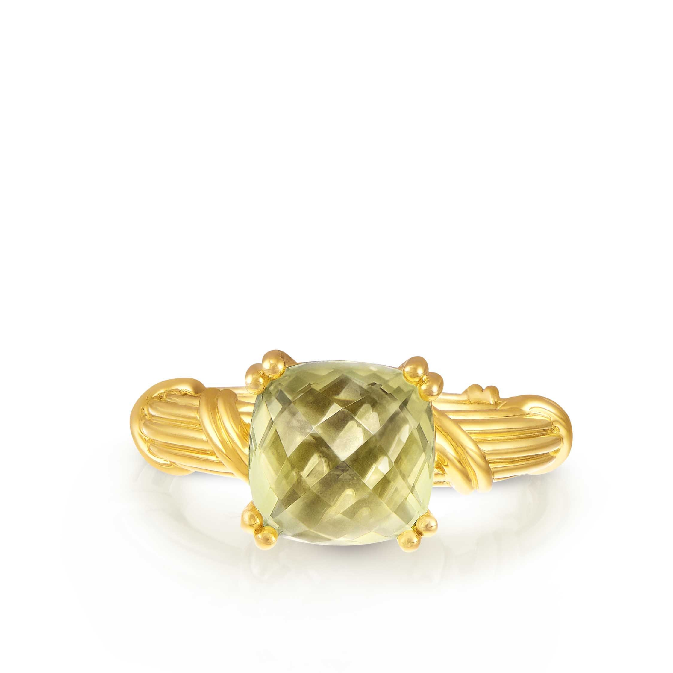 Fantasies Lemon Citrine Cocktail  Ring in 18K yellow gold