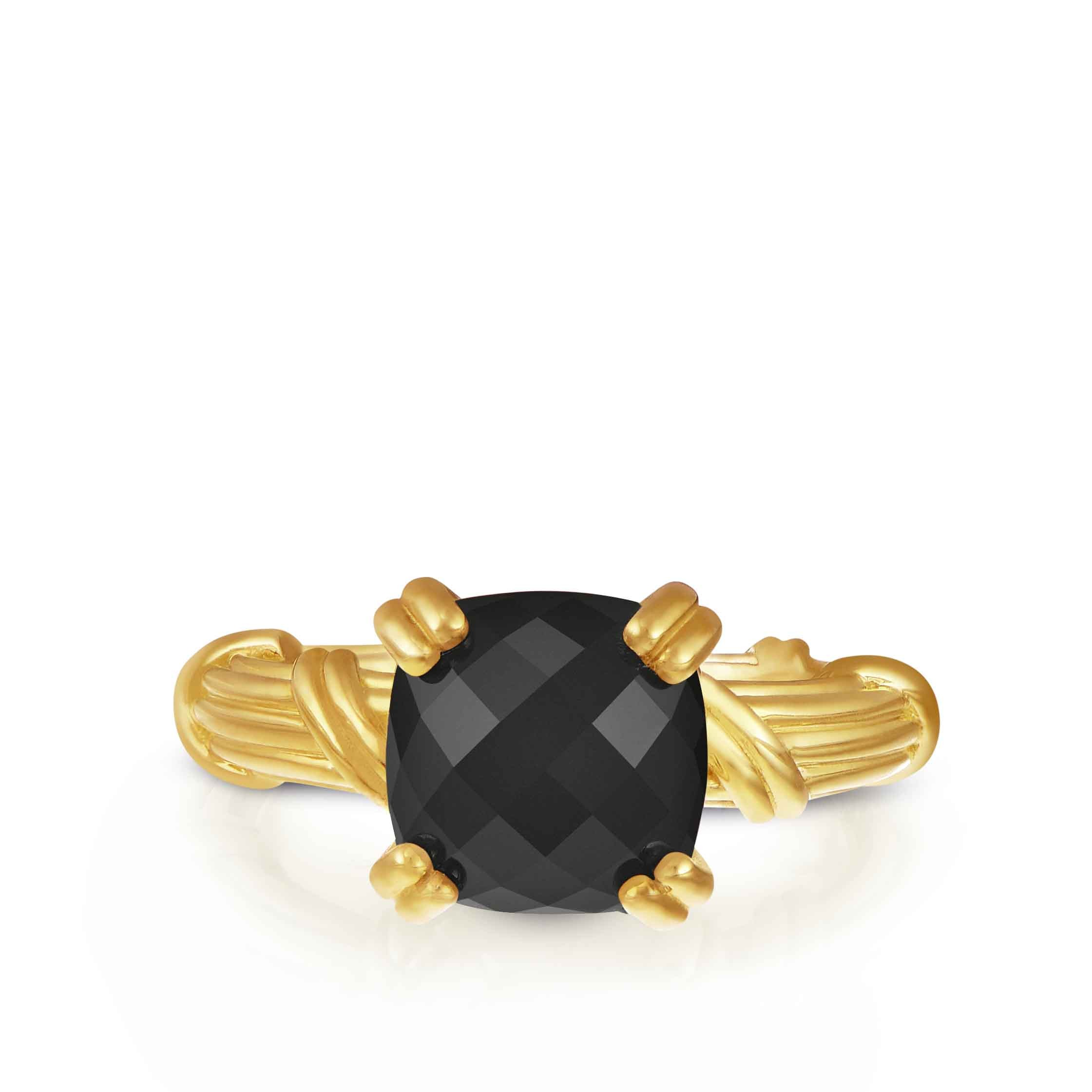 Fantasies Black Onyx Cocktail Ring in 18K yellow gold