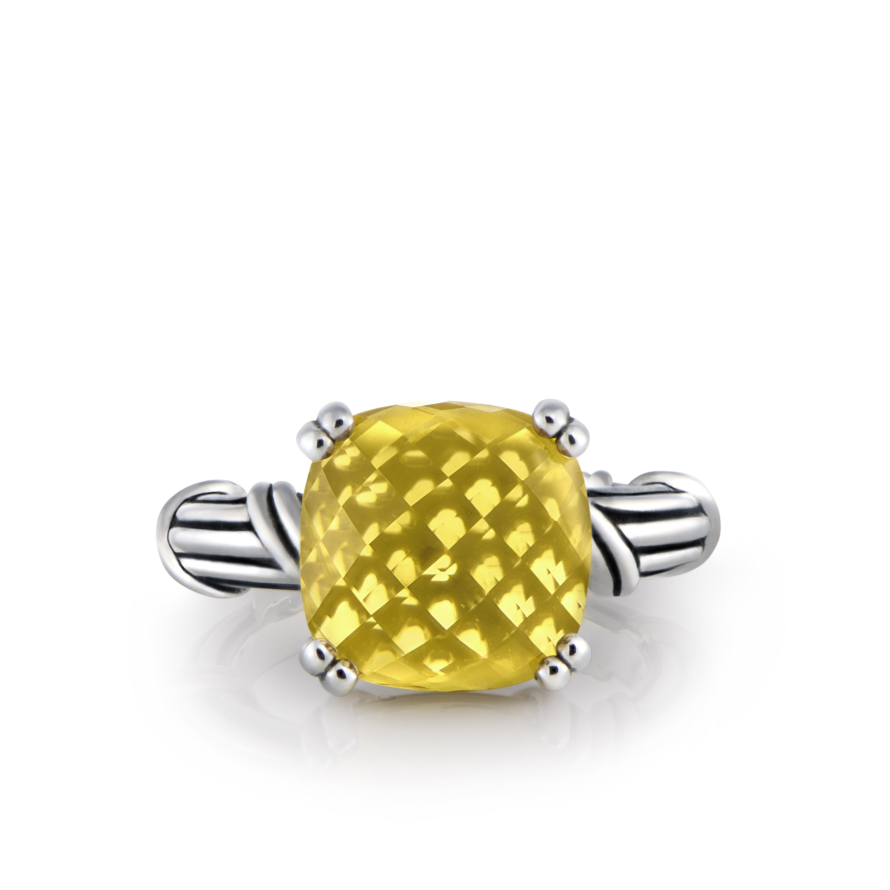 Fantasies Citrine Cocktail Ring in sterling silver