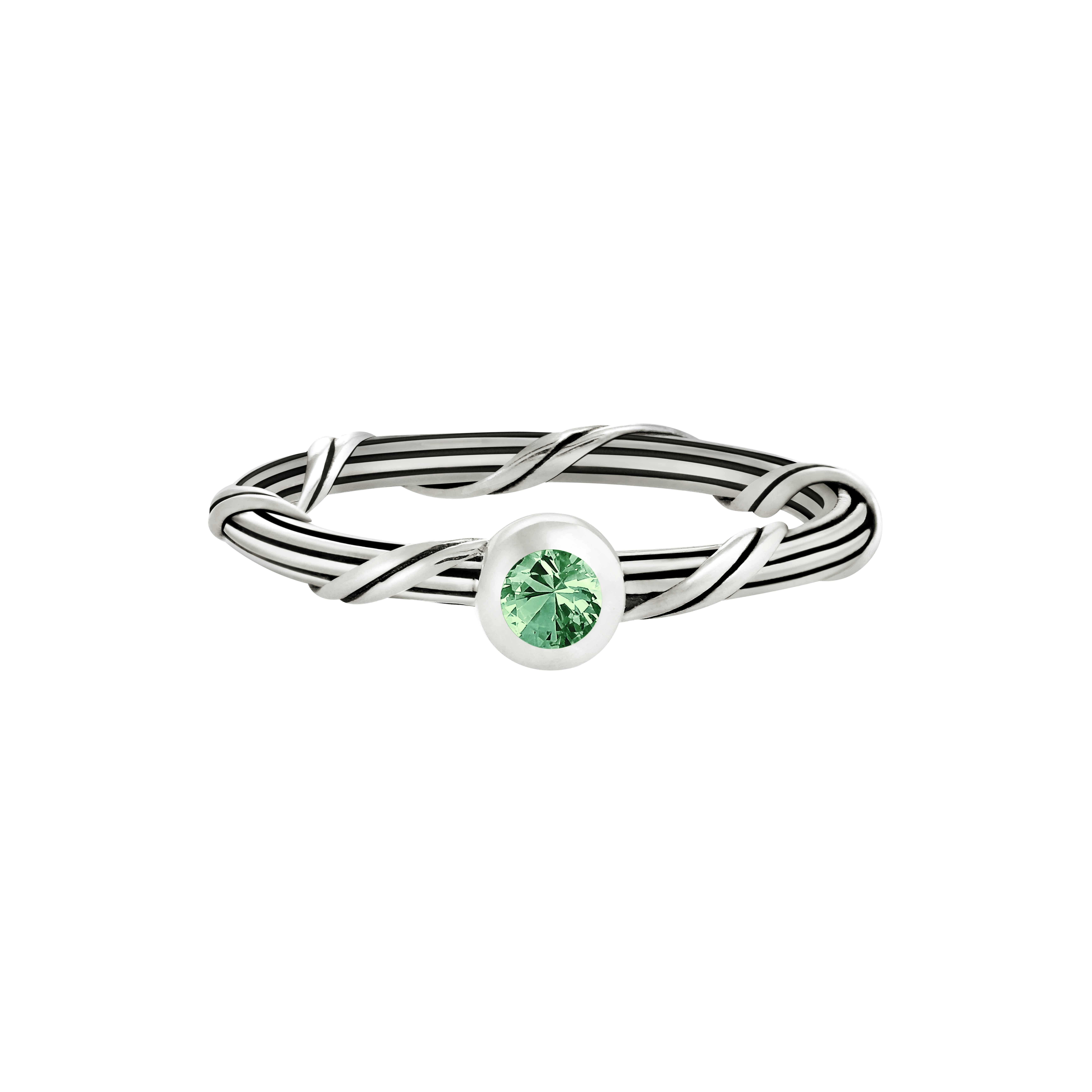 Signature Romance Emerald Ring in sterling silver