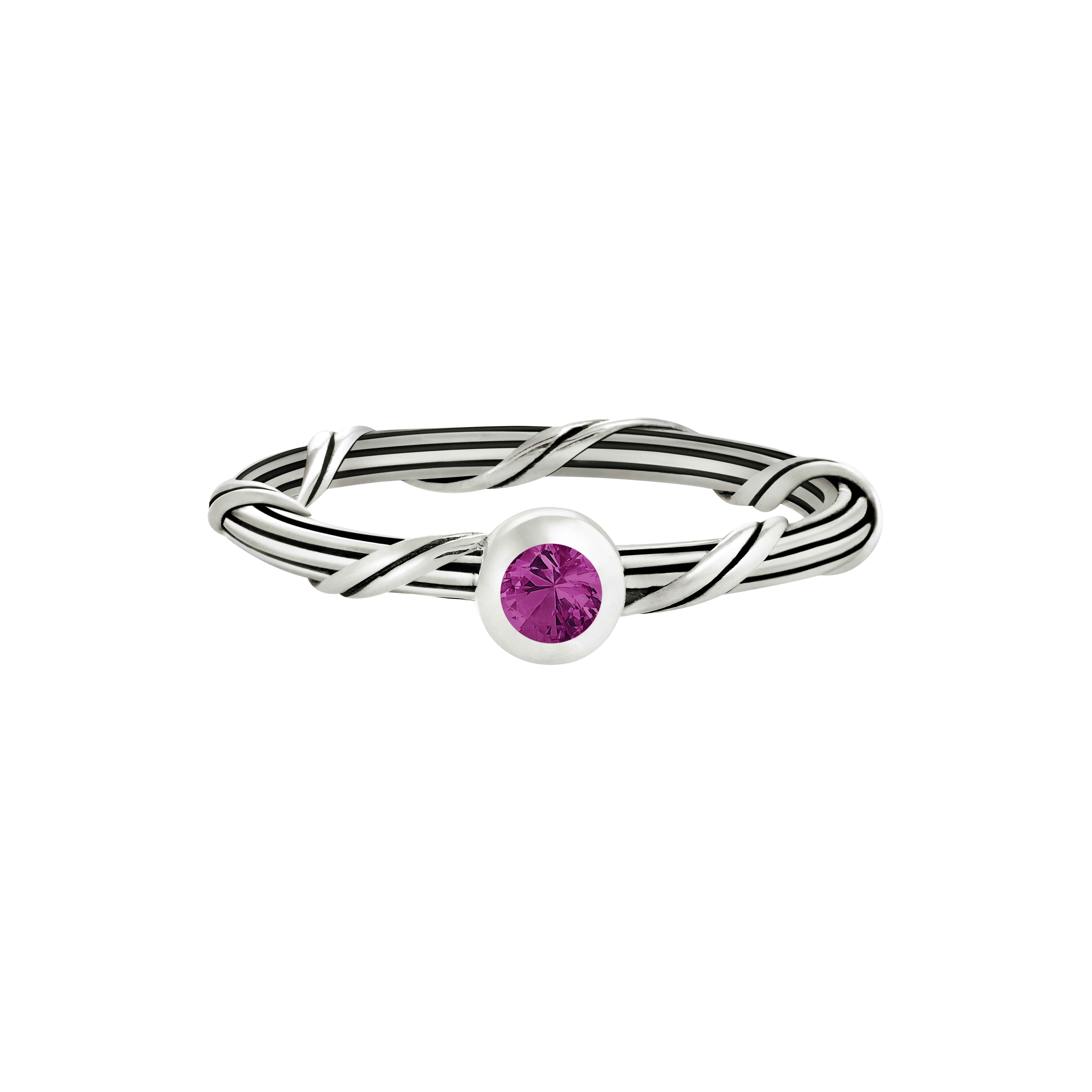 Signature Romance Ruby Ring in sterling silver