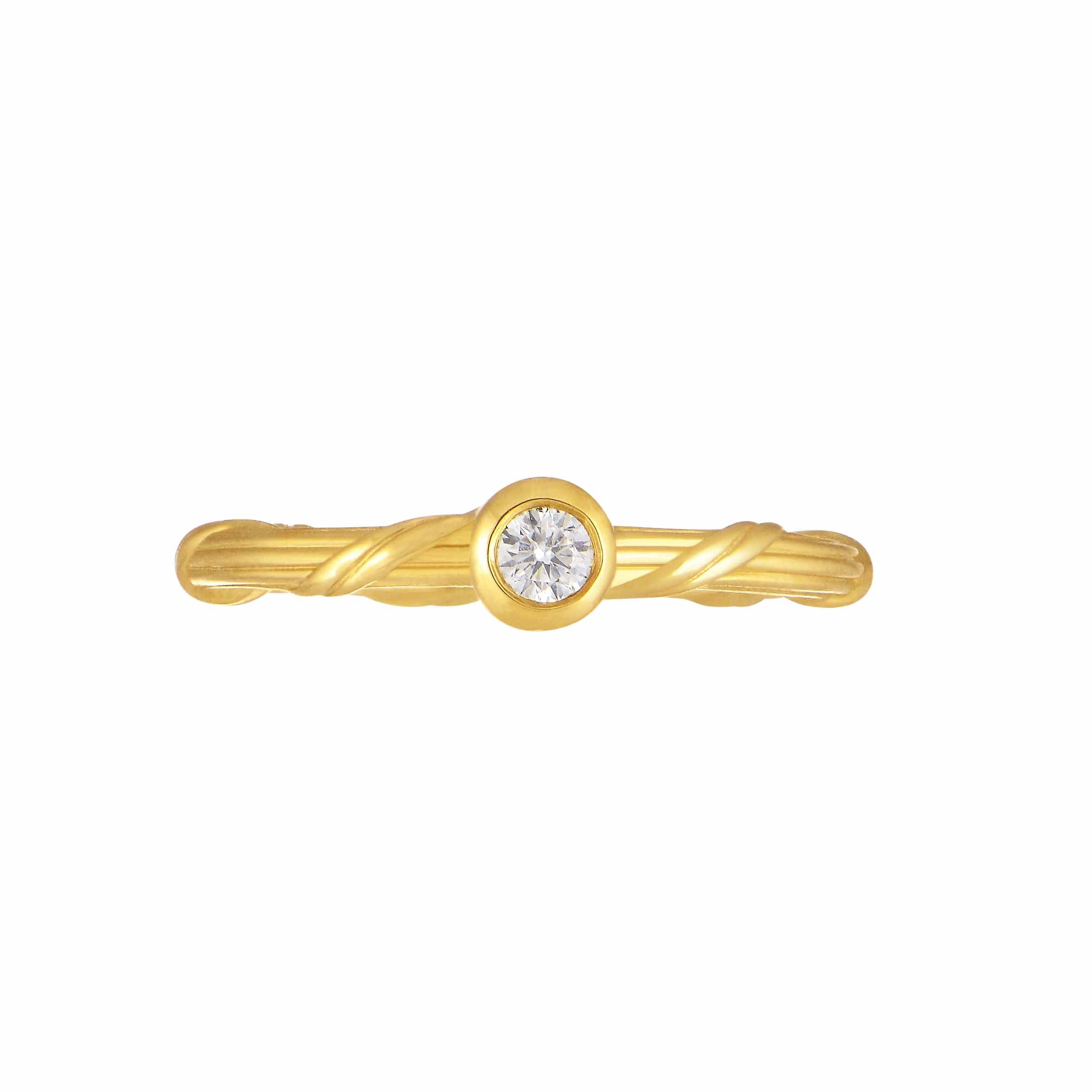 Heritage Diamond Ring in 18K gold