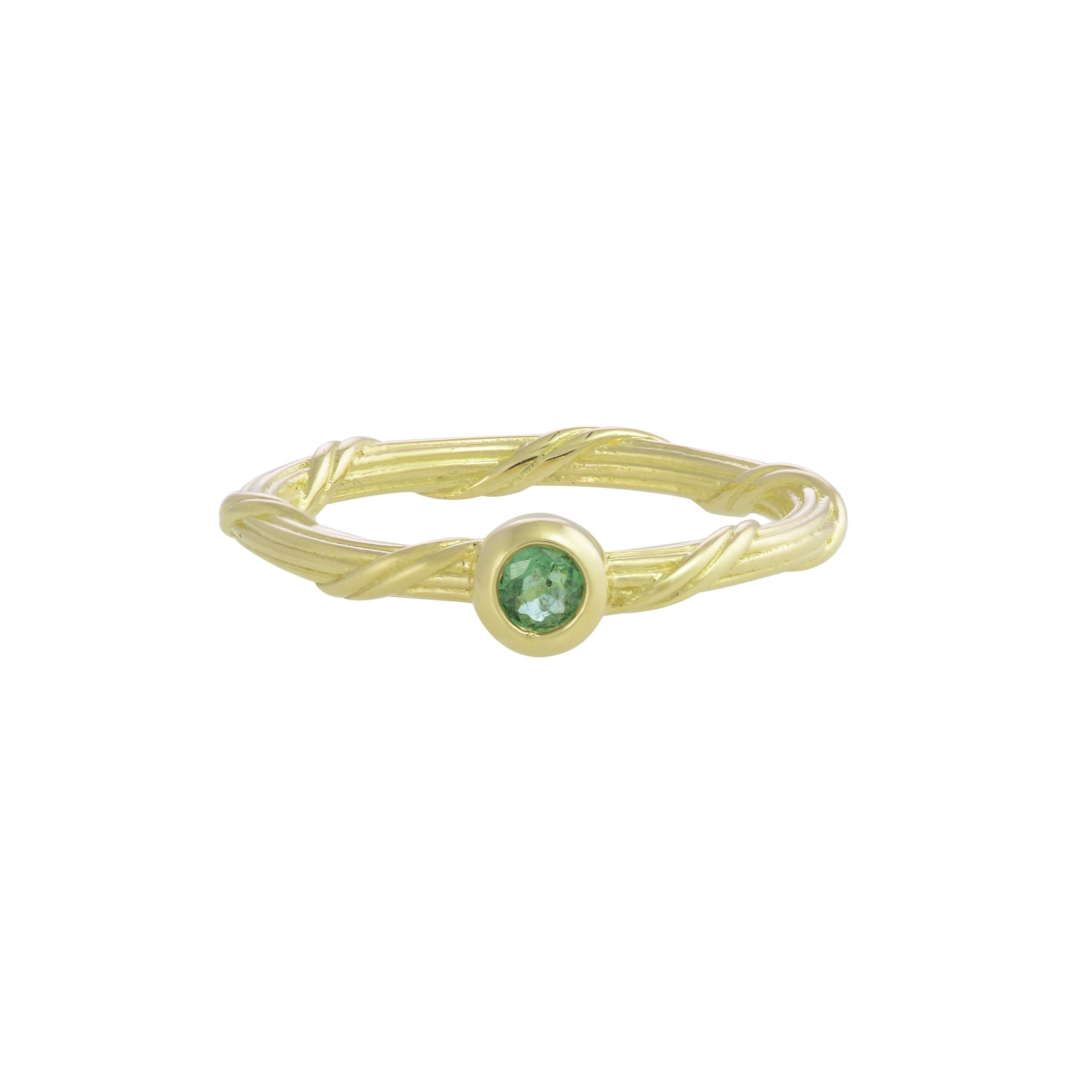 Heritage Emerald Ring in 18K gold