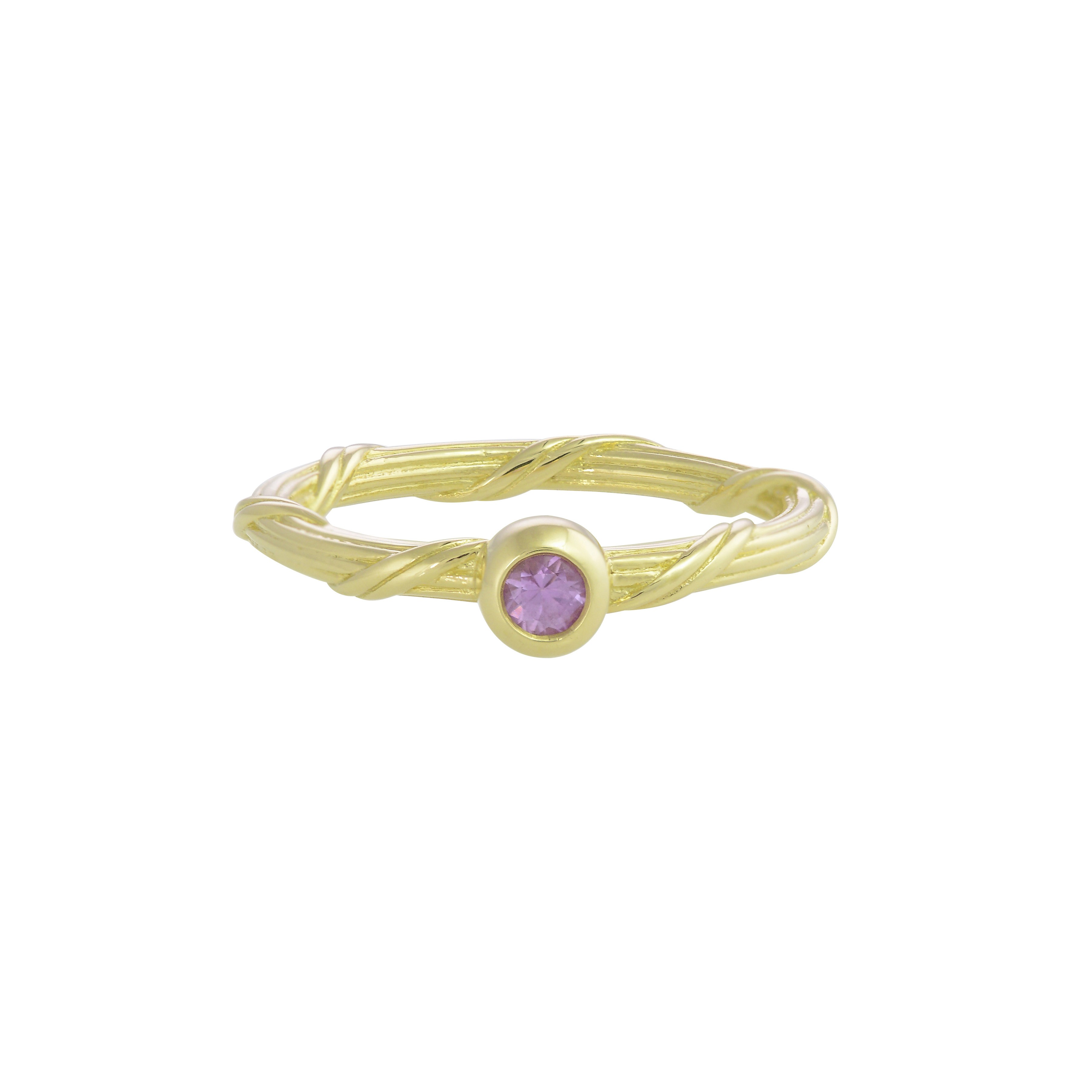 Heritage Pink Sapphire Ring in 18K gold