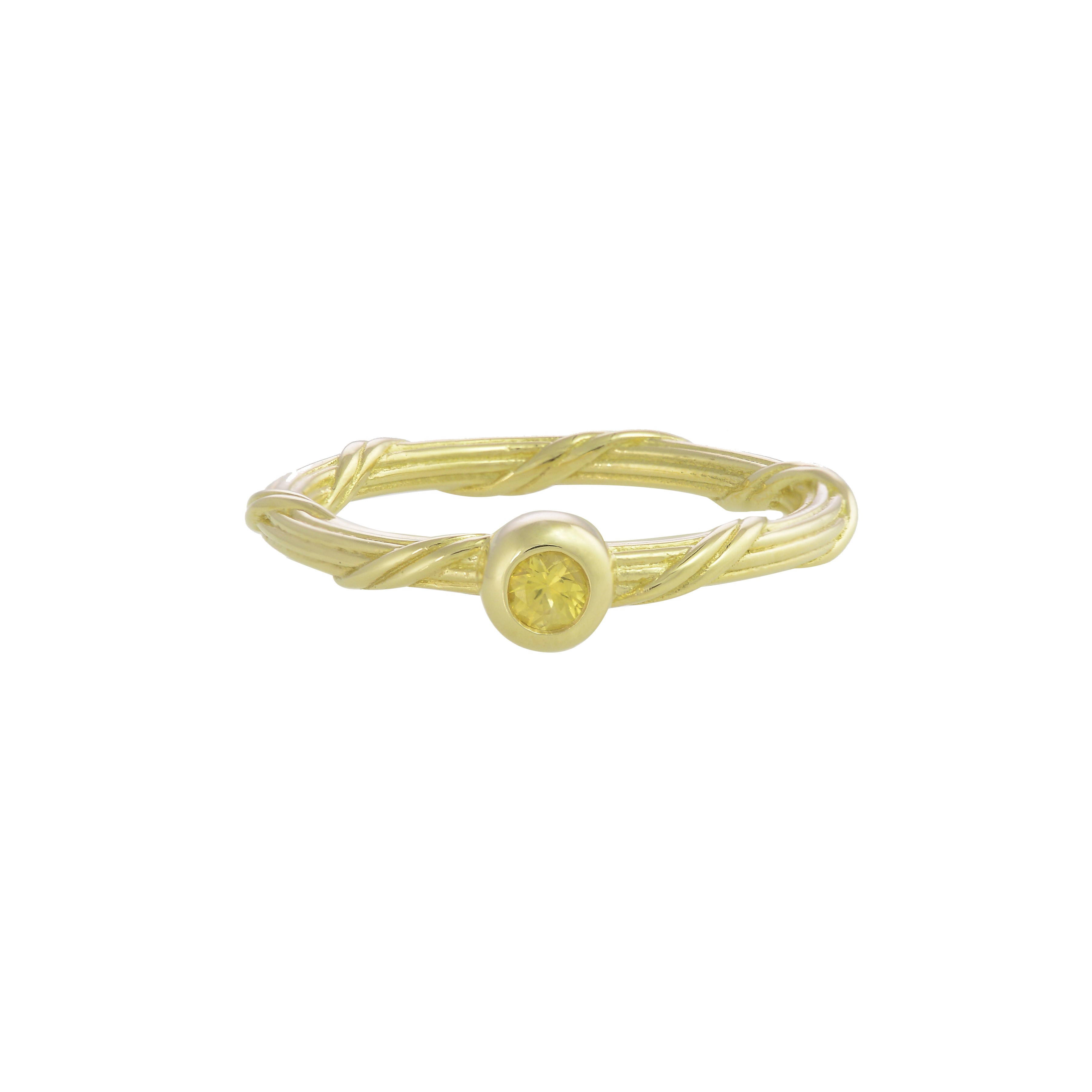 Heritage Yellow Sapphire Ring in 18K gold