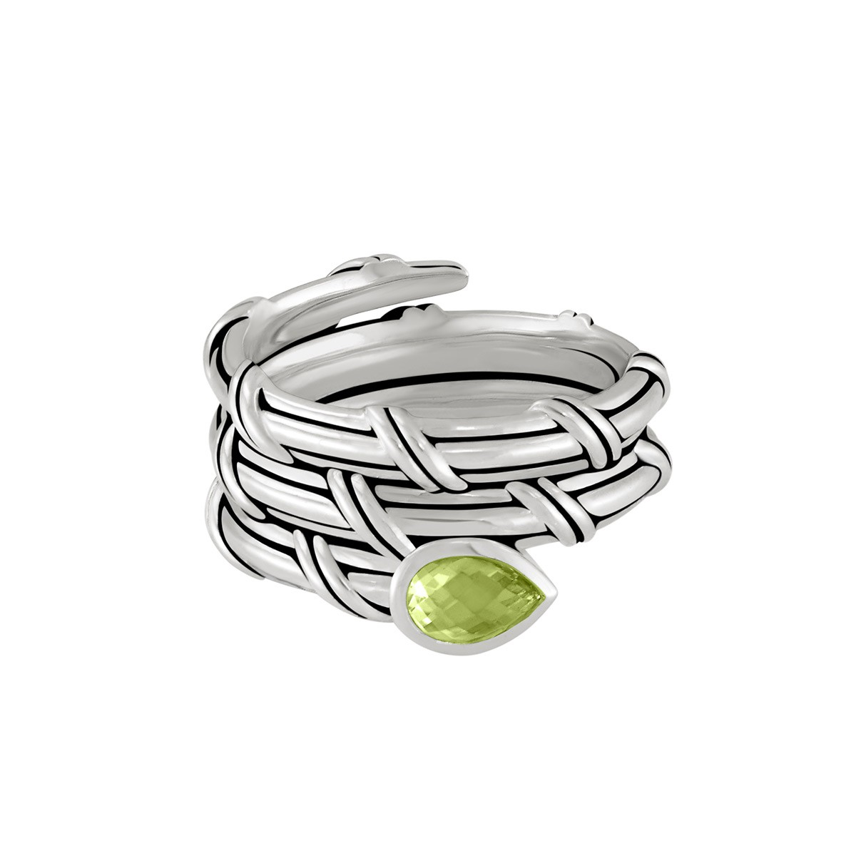 Signature Classic Wrap Ring with peridot in sterling silver
