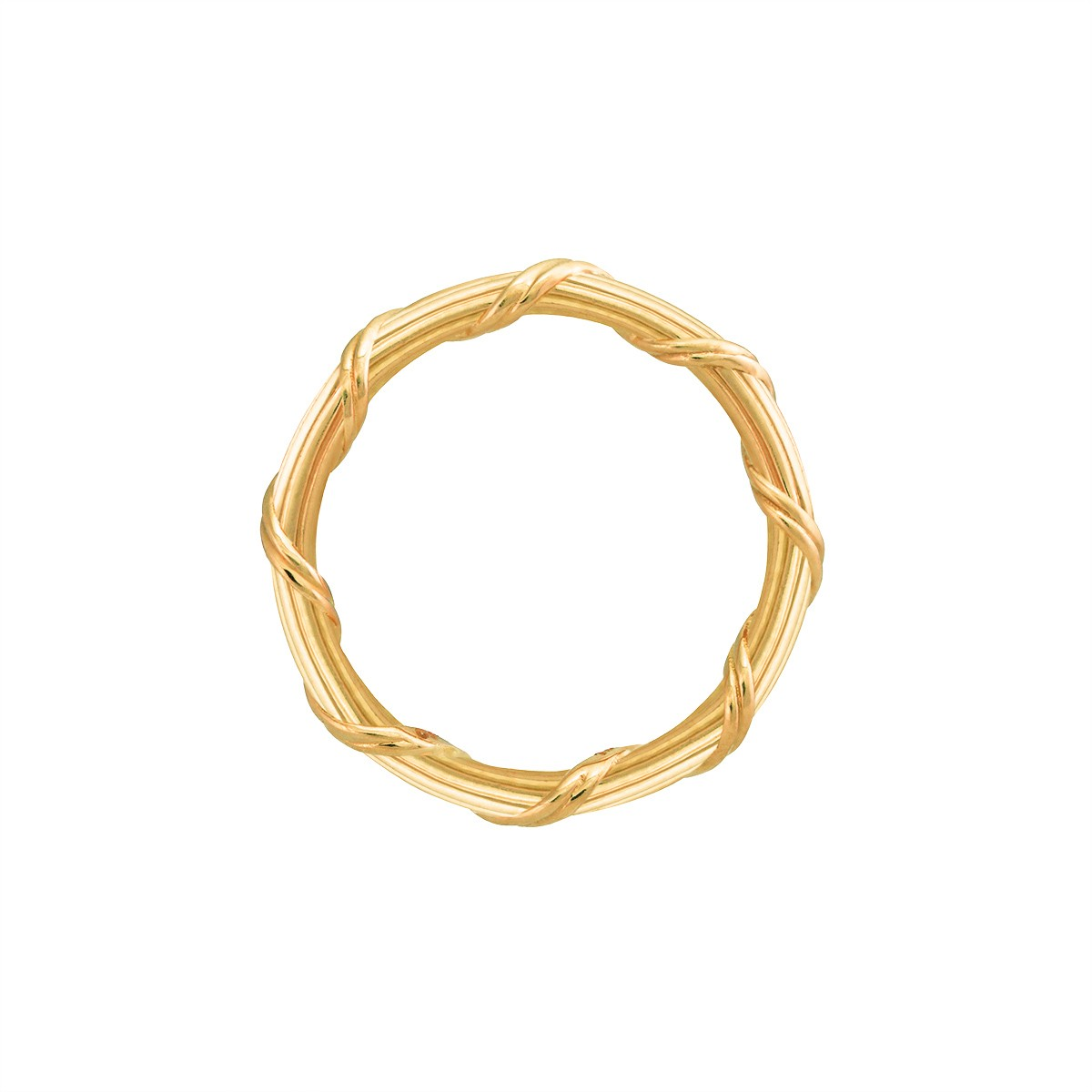 Heritage Band Ring in 18K yellow gold 2 mm
