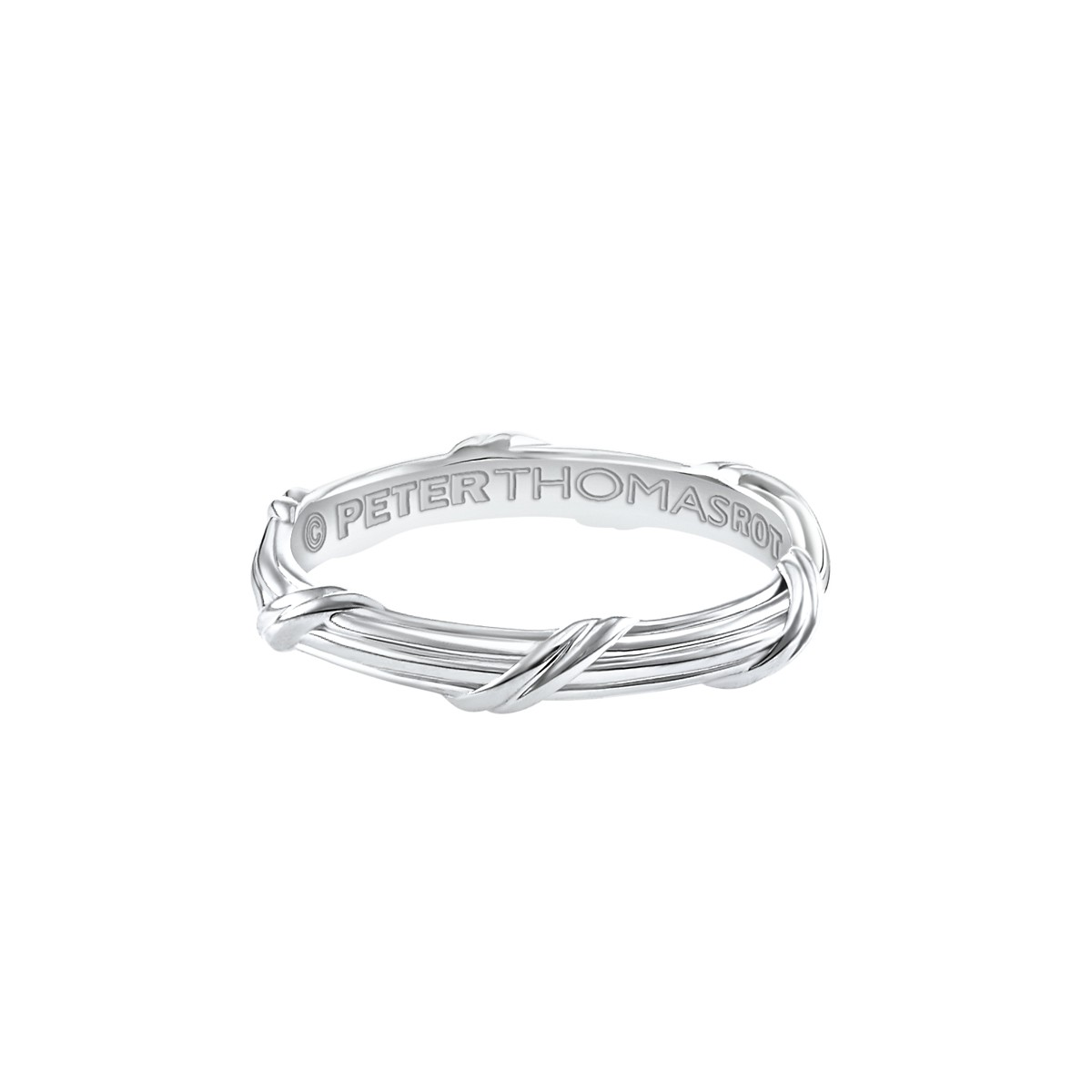 Heritage Eternity Band in 18K white gold 3 mm Sizes 10 - 13