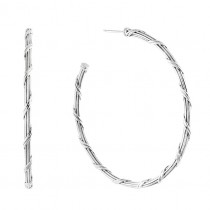 Signature Classic Hoop Earrings in sterling silver 2""