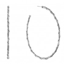 Signature Classic Hoop Earrings in sterling silver 3""